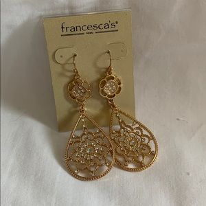 Francescas gold and jewel earrings